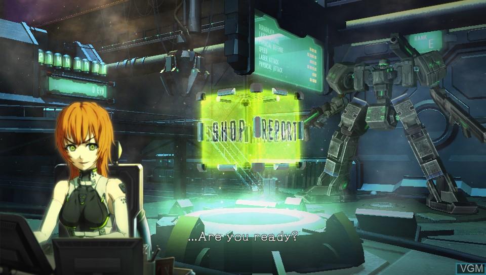 Image du menu du jeu Damascus Gear - Operation Osaka sur Sony PS Vita