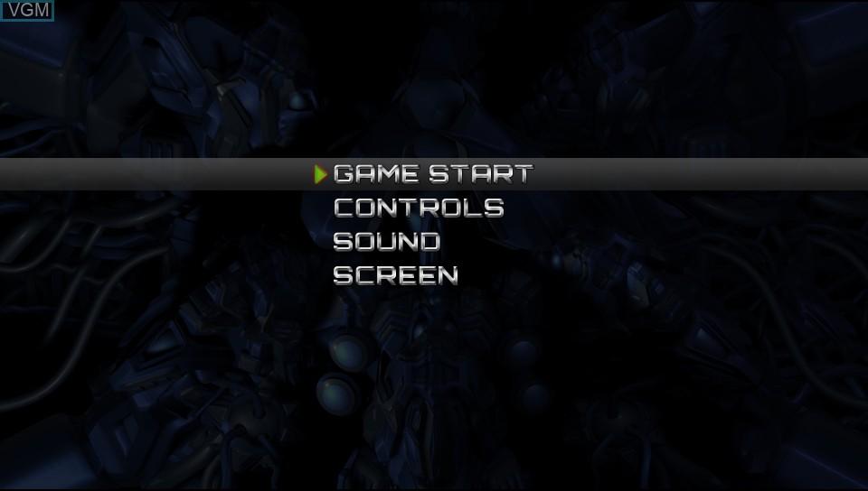 Image du menu du jeu Fast Striker sur Sony PS Vita