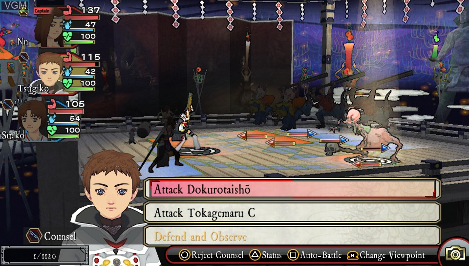 Image in-game du jeu Oreshika - Tainted Bloodlines sur Sony PS Vita