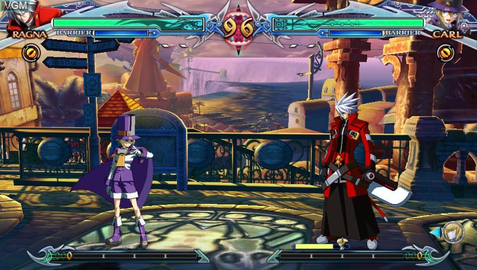 Image in-game du jeu BlazBlue - Chrono Phantasma Extend sur Sony PS Vita