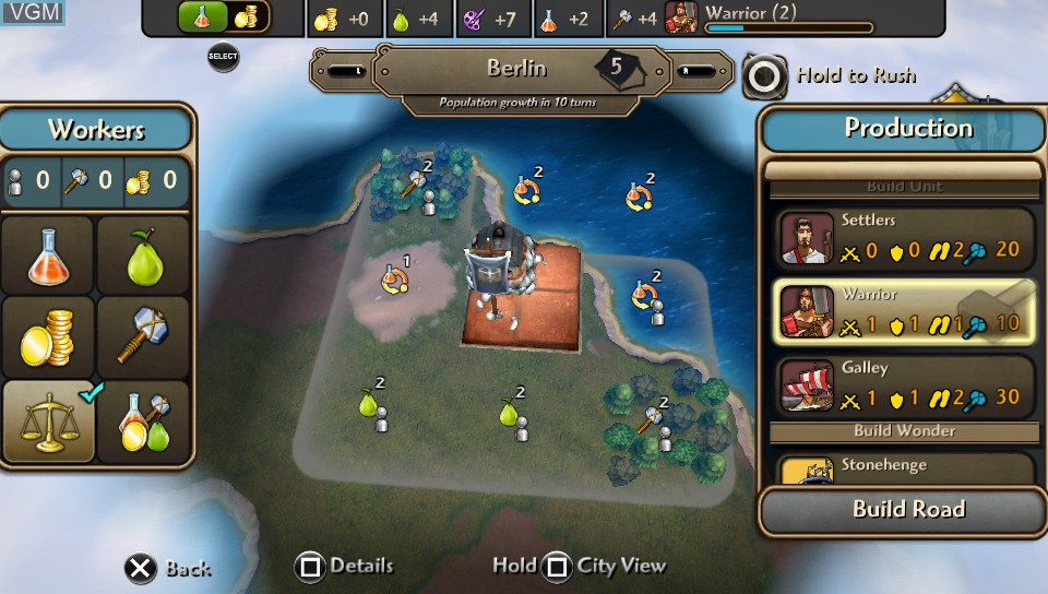 Image in-game du jeu Sid Meier's Civilization Revolution 2+ sur Sony PS Vita