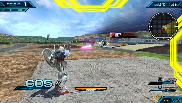 Image in-game du jeu Mobile Suit Gundam - Extreme VS-Force sur Sony PS Vita