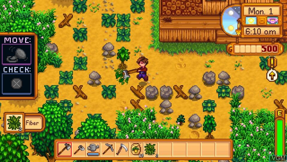 Image in-game du jeu Stardew Valley sur Sony PS Vita