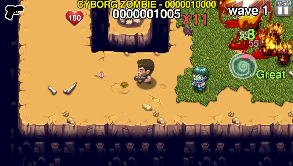 Image in-game du jeu Age of Zombies sur Sony PS Vita