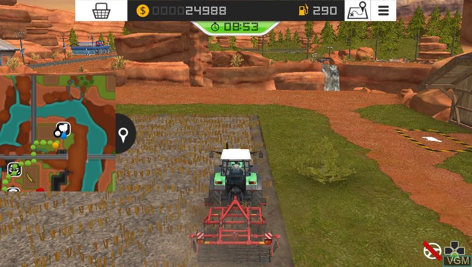 Image in-game du jeu Farming Simulator 18 sur Sony PS Vita