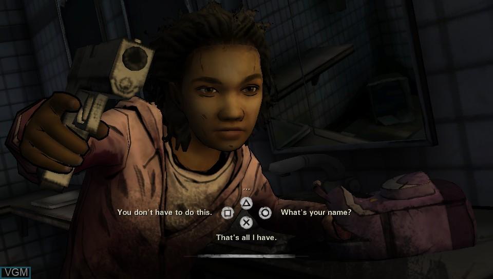 Image in-game du jeu Walking Dead, The - Season Two - A Telltale sur Sony PS Vita