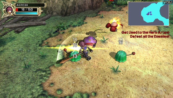 Image in-game du jeu Fantasy Hero - Unsigned Legacy sur Sony PS Vita