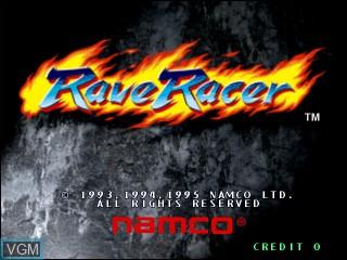 Image de l'ecran titre du jeu Rave Racer sur Vivanonno