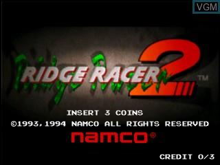 Image de l'ecran titre du jeu Ridge Racer 2 sur Vivanonno