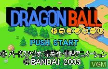 Image de l'ecran titre du jeu Dragonball sur Bandai WonderSwan