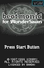 Image de l'ecran titre du jeu Beat Mania sur Bandai WonderSwan