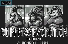 Image de l'ecran titre du jeu Buffers Evolution sur Bandai WonderSwan