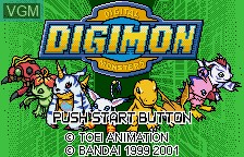 Image de l'ecran titre du jeu Digimon Digital Monsters - Anode & Cathode Tamer - Veedramon Version sur Bandai WonderSwan