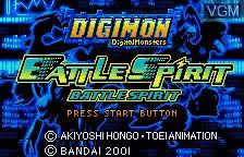 Image de l'ecran titre du jeu Digimon Tamers - Battle Spirit sur Bandai WonderSwan