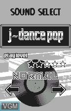Image du menu du jeu Beat Mania sur Bandai WonderSwan