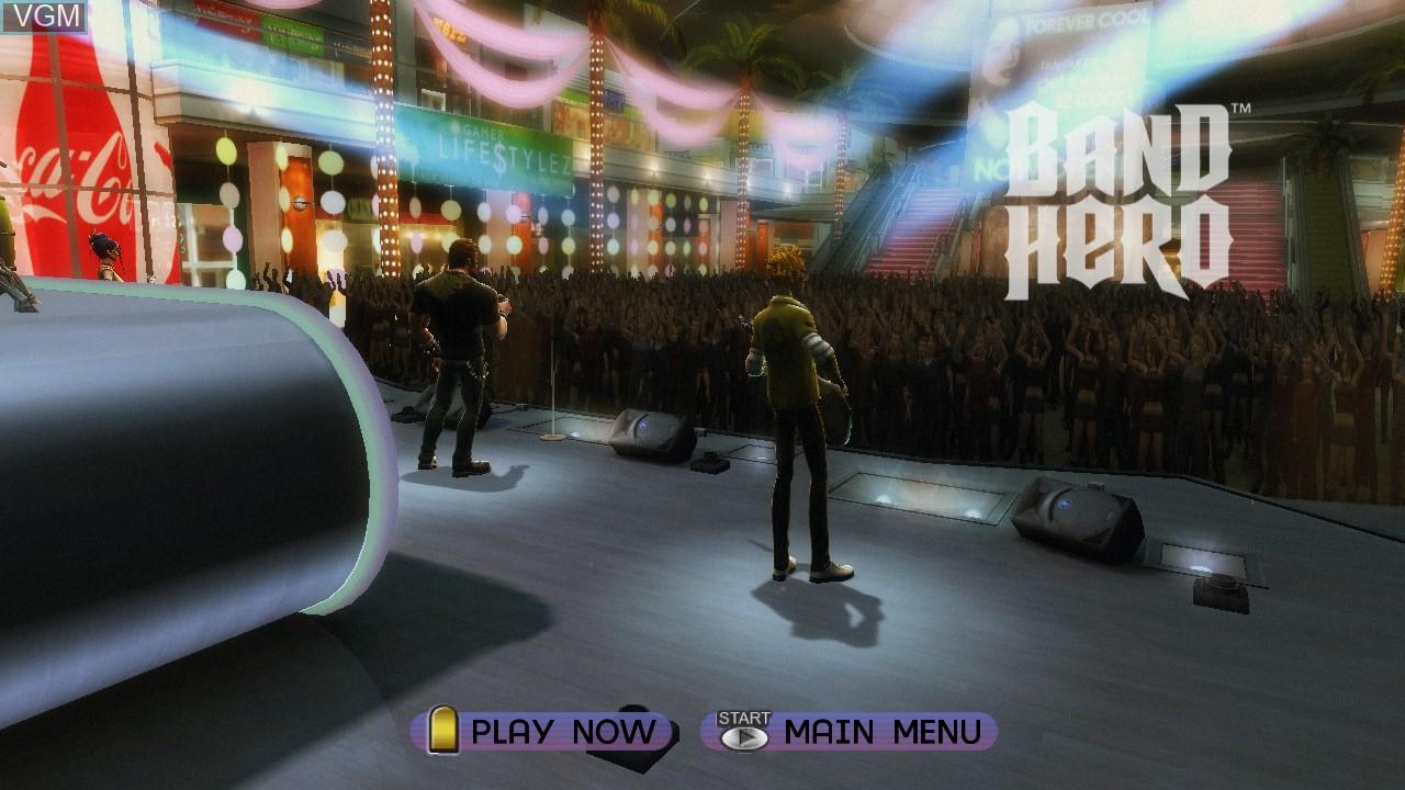 Image de l'ecran titre du jeu Band Hero sur Microsoft Xbox 360