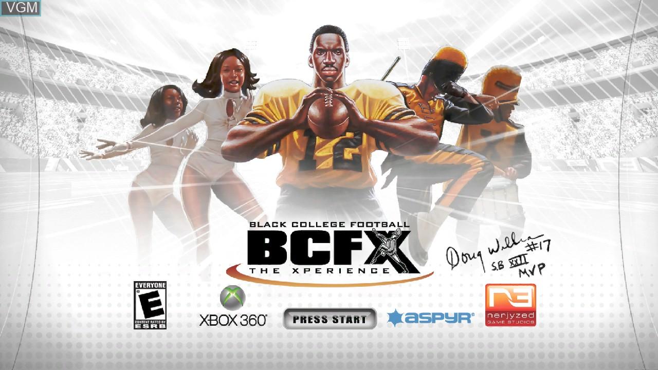 Image de l'ecran titre du jeu Black College Football Experience - The Doug Williams Edition sur Microsoft Xbox 360
