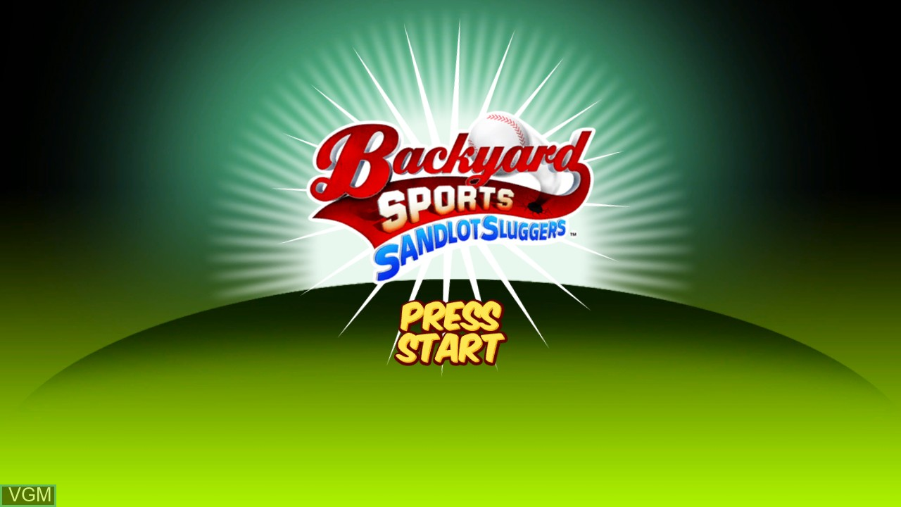 Image de l'ecran titre du jeu Backyard Sports - Sandlot Sluggers sur Microsoft Xbox 360