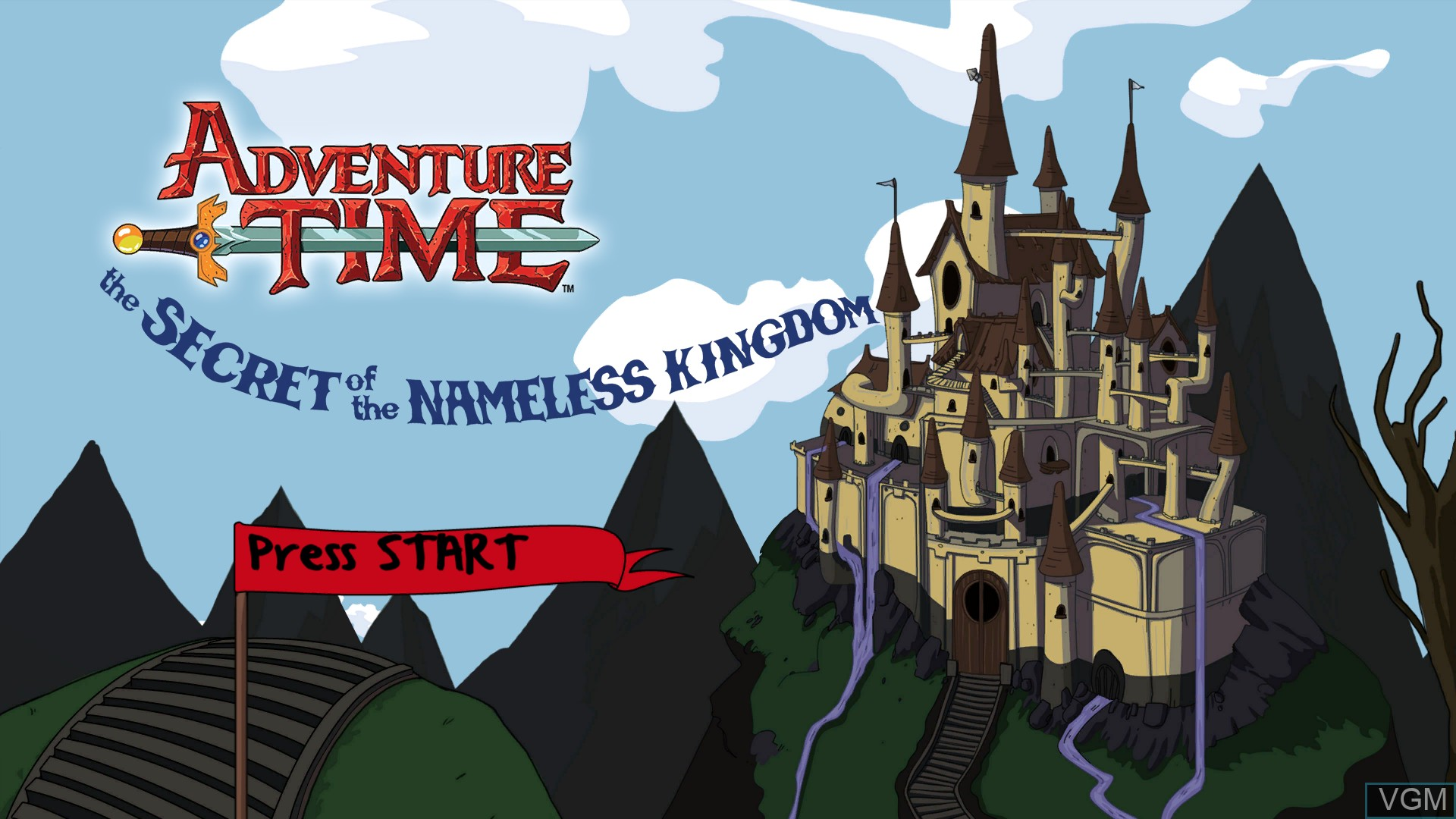 Image de l'ecran titre du jeu Adventure Time - The Secret of the Nameless Kingdom sur Microsoft Xbox 360
