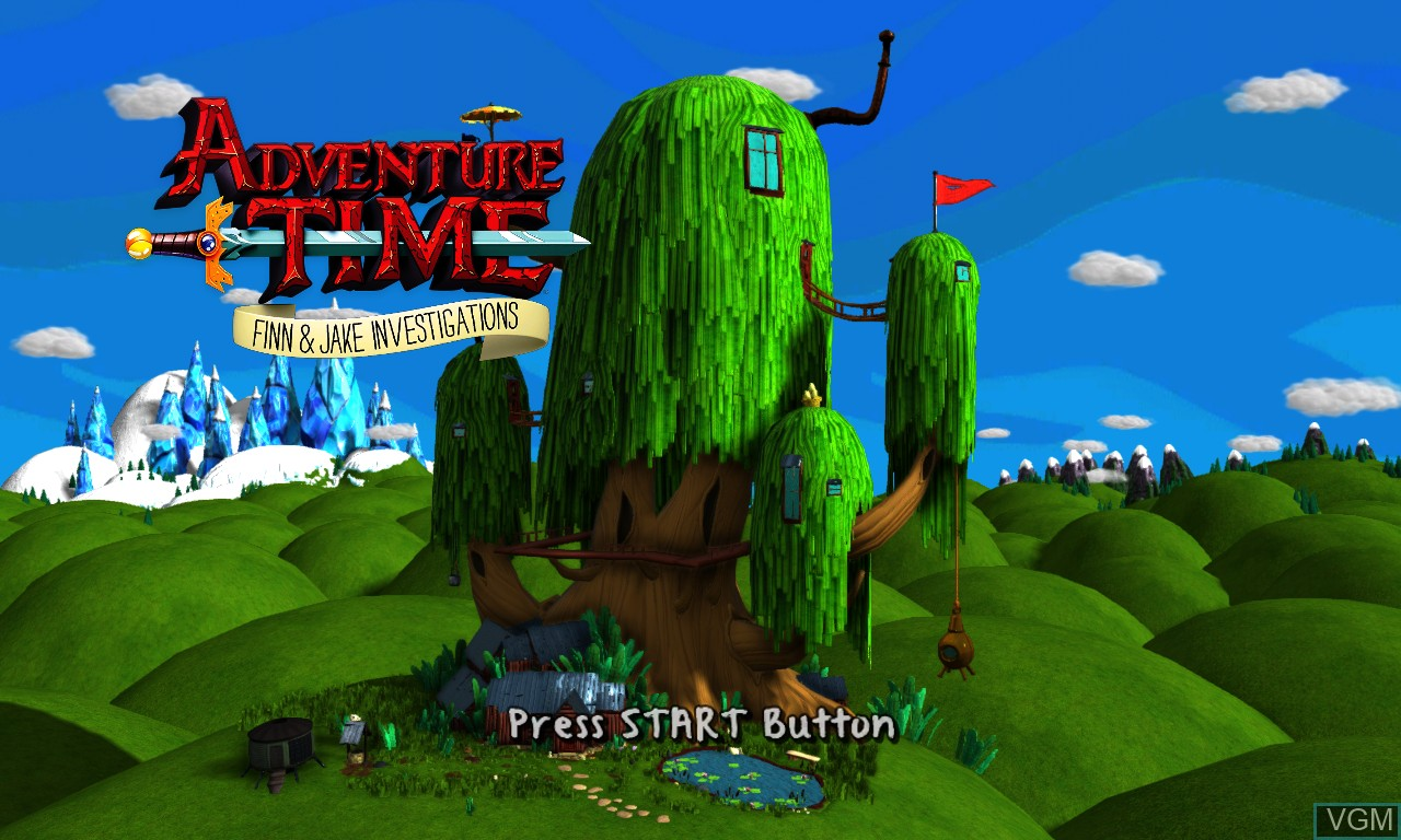 Image de l'ecran titre du jeu Adventure Time - Finn and Jake Investigations sur Microsoft Xbox 360
