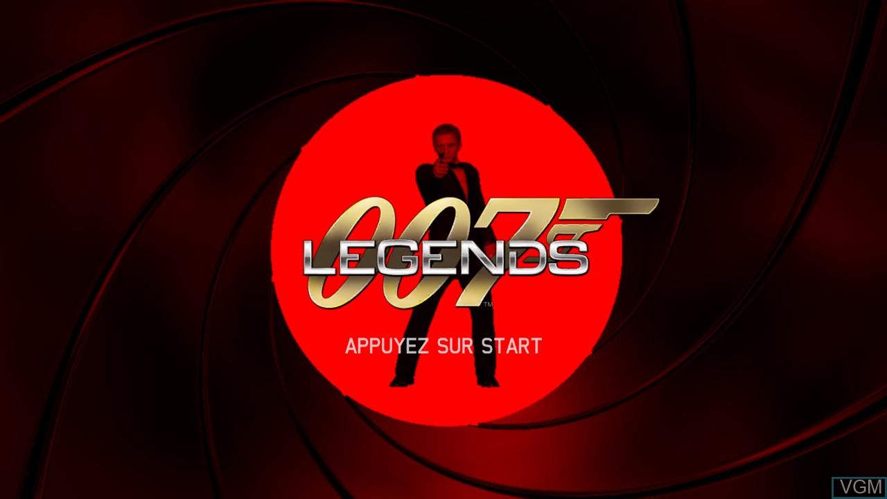 Image de l'ecran titre du jeu 007 Legends sur Microsoft Xbox 360