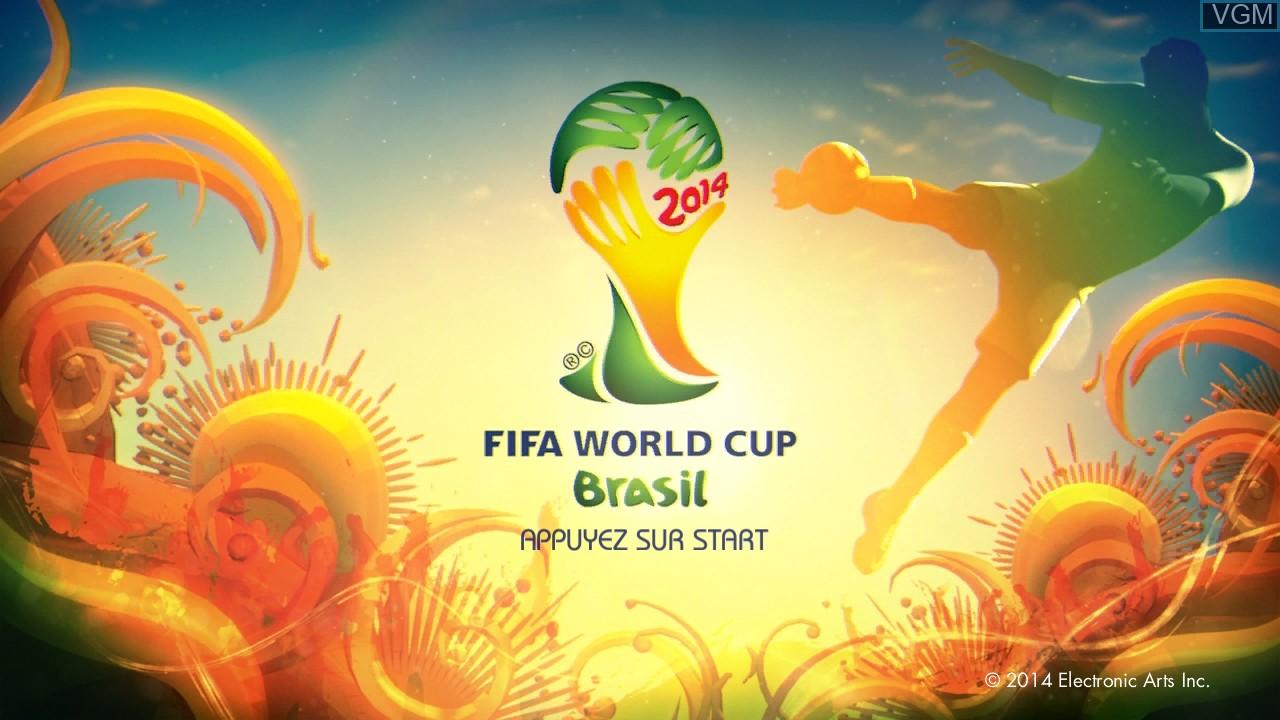 Image de l'ecran titre du jeu 2014 FIFA World Cup Brazil sur Microsoft Xbox 360