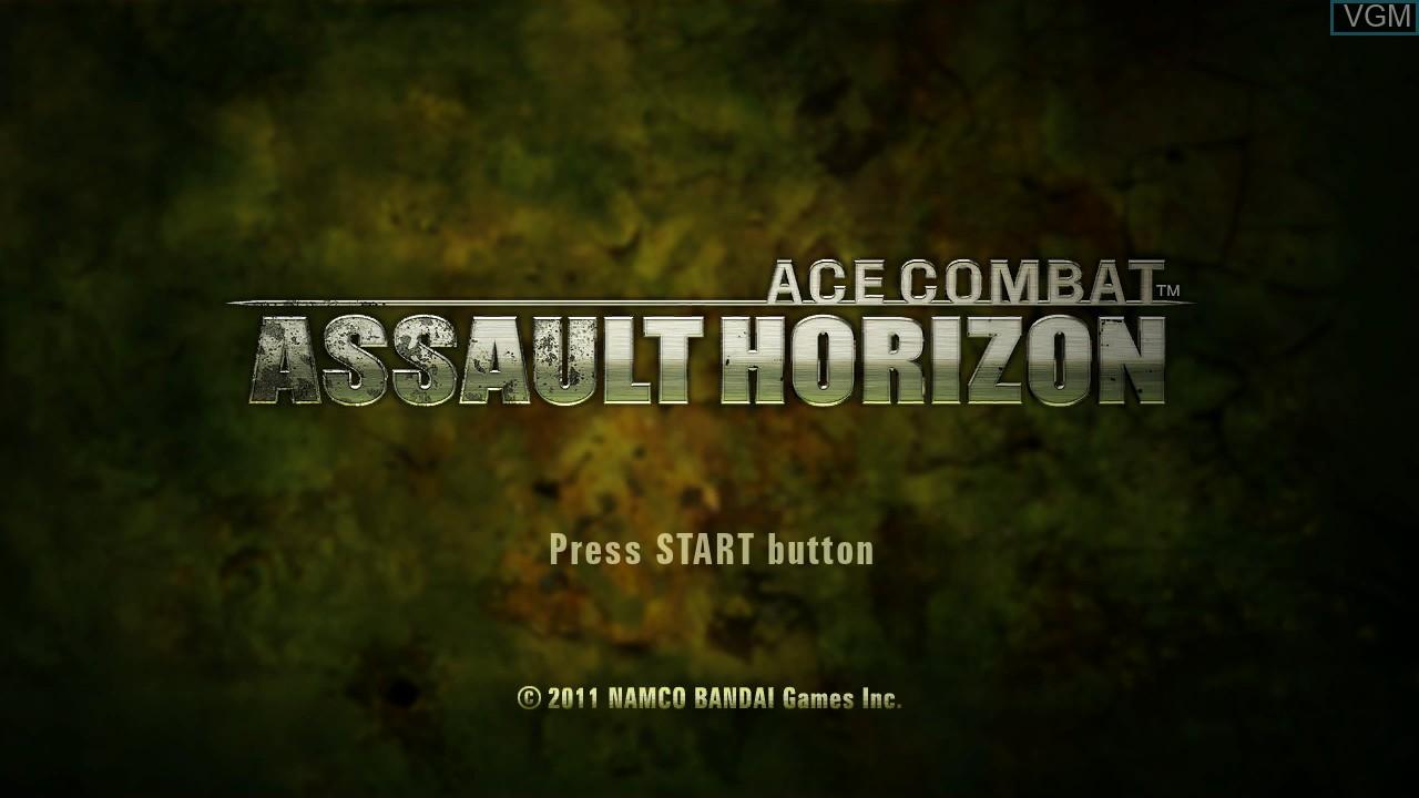 Image de l'ecran titre du jeu Ace Combat - Assault Horizon sur Microsoft Xbox 360