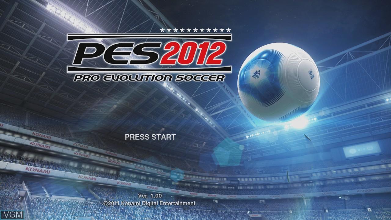 Image de l'ecran titre du jeu Pro Evolution Soccer 2012 sur Microsoft Xbox 360