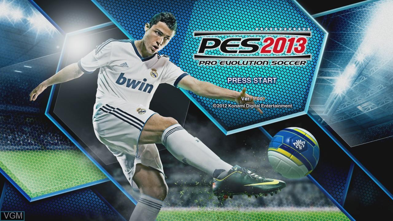 Image de l'ecran titre du jeu Pro Evolution Soccer 2013 sur Microsoft Xbox 360