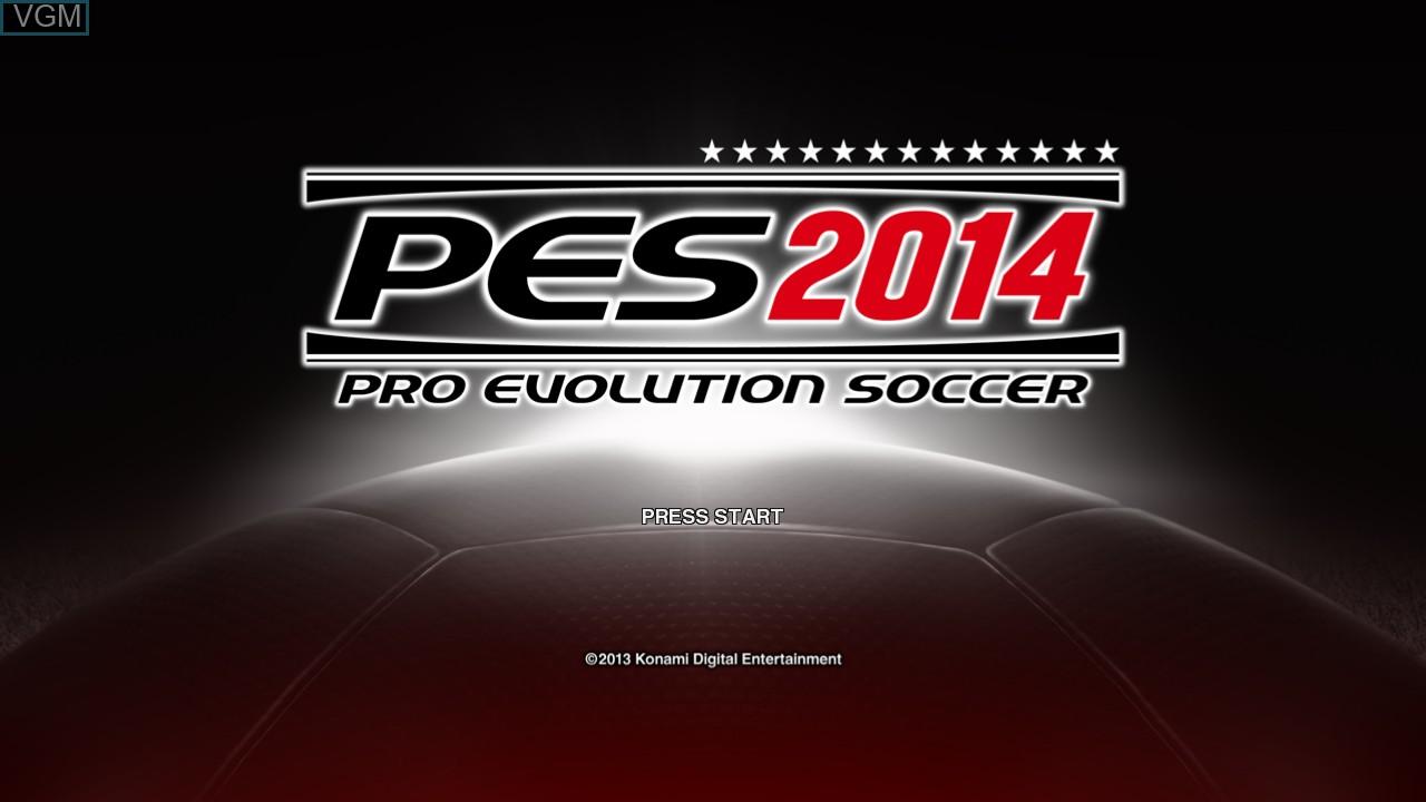 Image de l'ecran titre du jeu Pro Evolution Soccer 2014 sur Microsoft Xbox 360