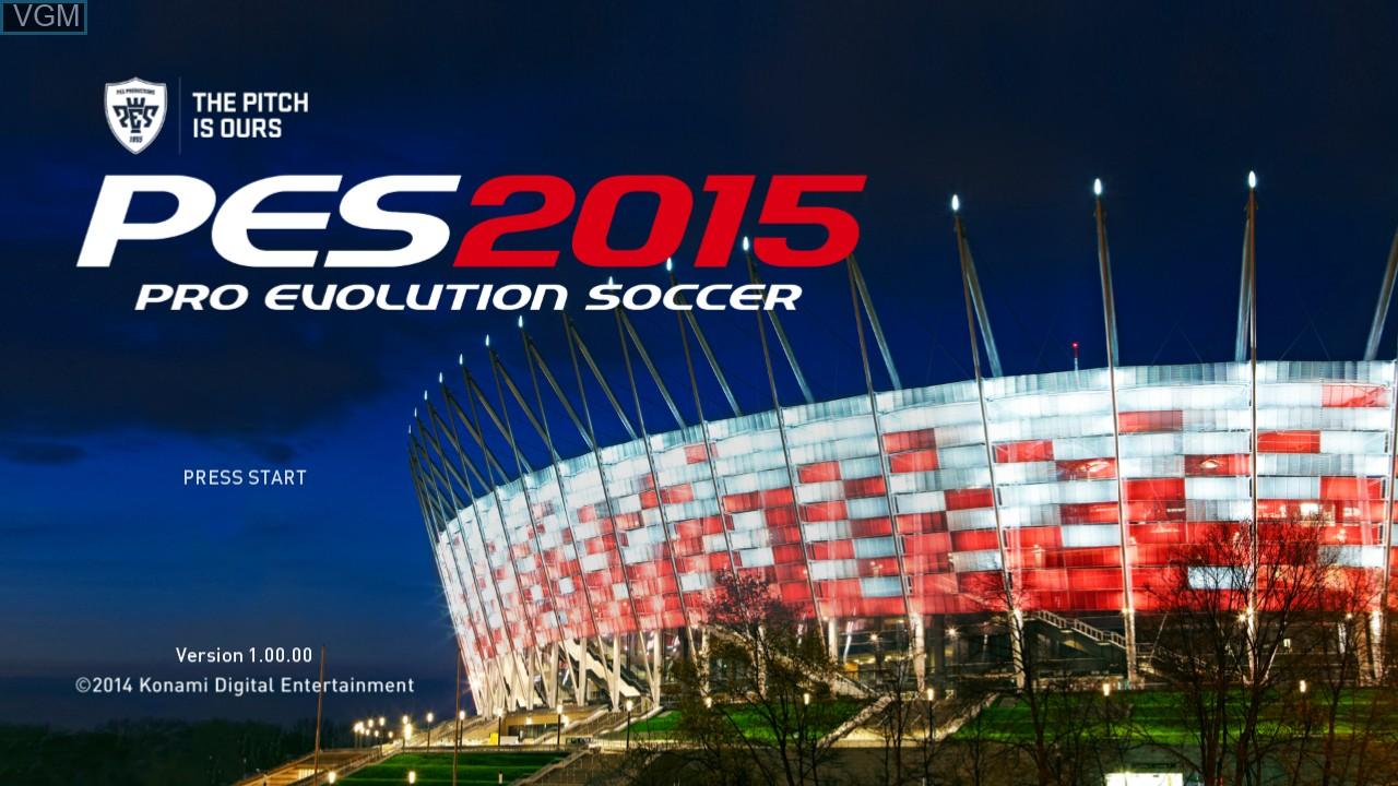 Image de l'ecran titre du jeu Pro Evolution Soccer 2015 sur Microsoft Xbox 360