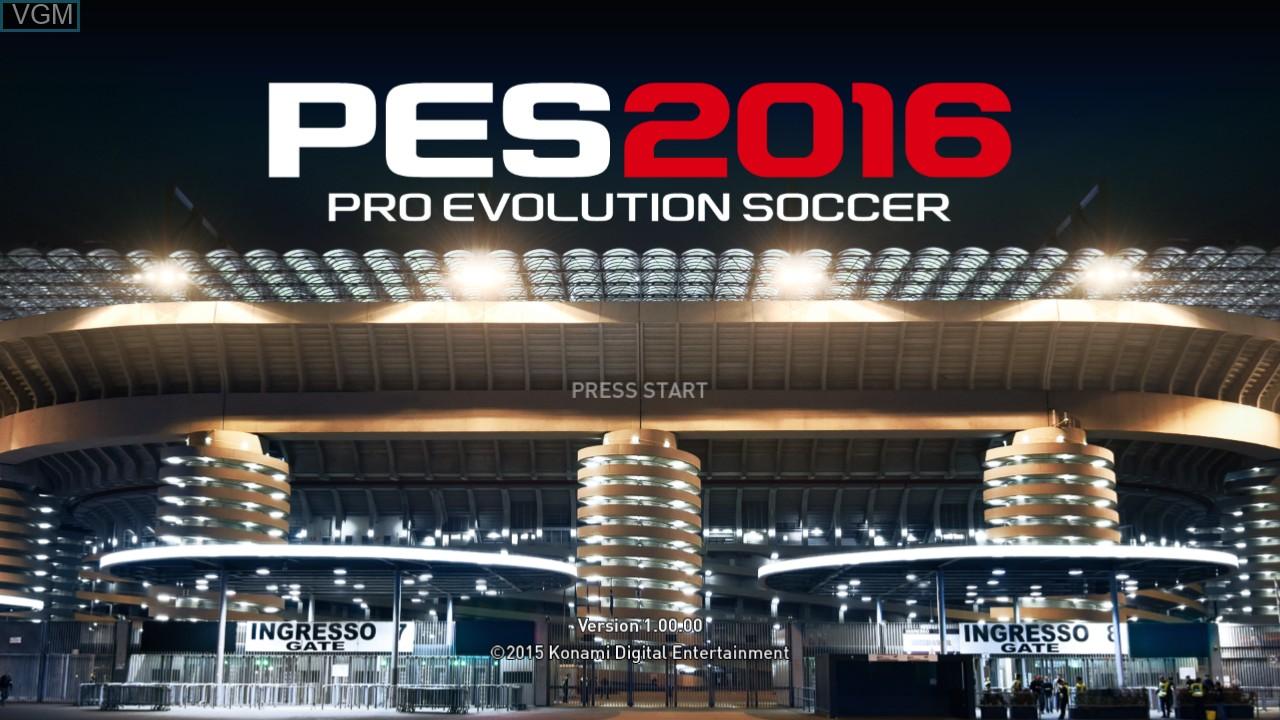 Image de l'ecran titre du jeu Pro Evolution Soccer 2016 sur Microsoft Xbox 360