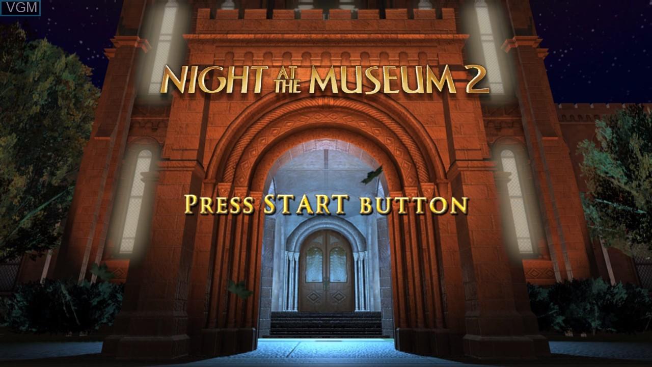 Image de l'ecran titre du jeu Night at the Museum 2 sur Microsoft Xbox 360