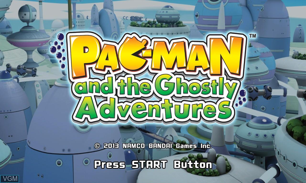 Image de l'ecran titre du jeu Pac-Man and the Ghostly Adventures sur Microsoft Xbox 360