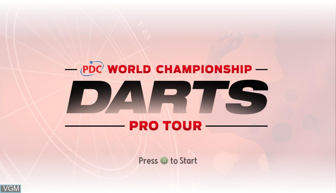 Image de l'ecran titre du jeu PDC World Championship Darts - Pro Tour sur Microsoft Xbox 360