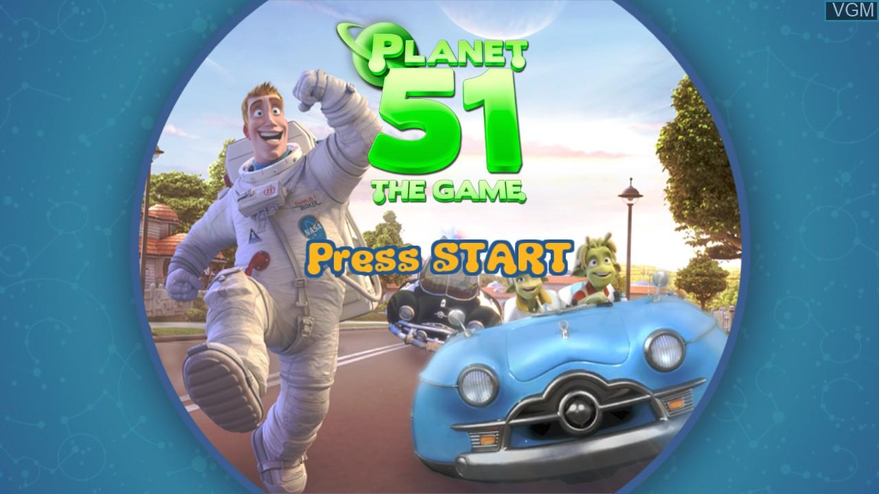Image de l'ecran titre du jeu Planet 51 sur Microsoft Xbox 360
