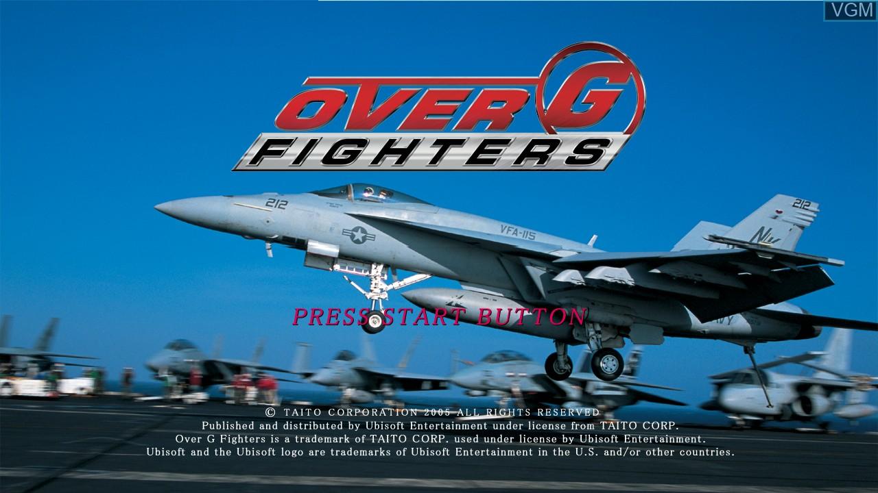 Image de l'ecran titre du jeu Over G Fighters sur Microsoft Xbox 360