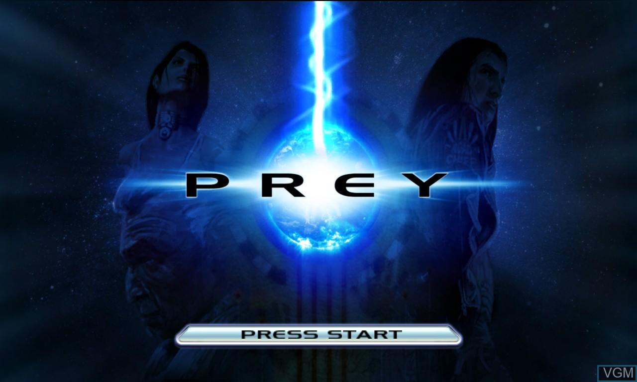 Image de l'ecran titre du jeu Prey sur Microsoft Xbox 360