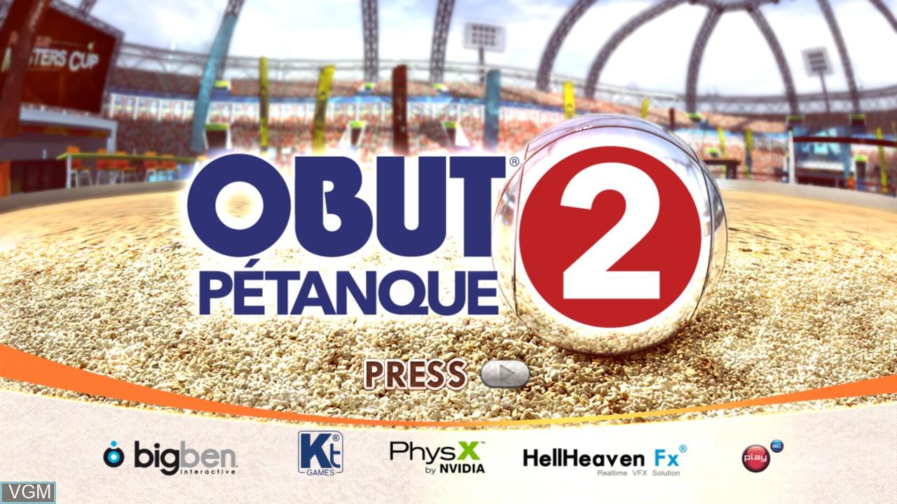 Image de l'ecran titre du jeu Obut Petanque 2 sur Microsoft Xbox 360