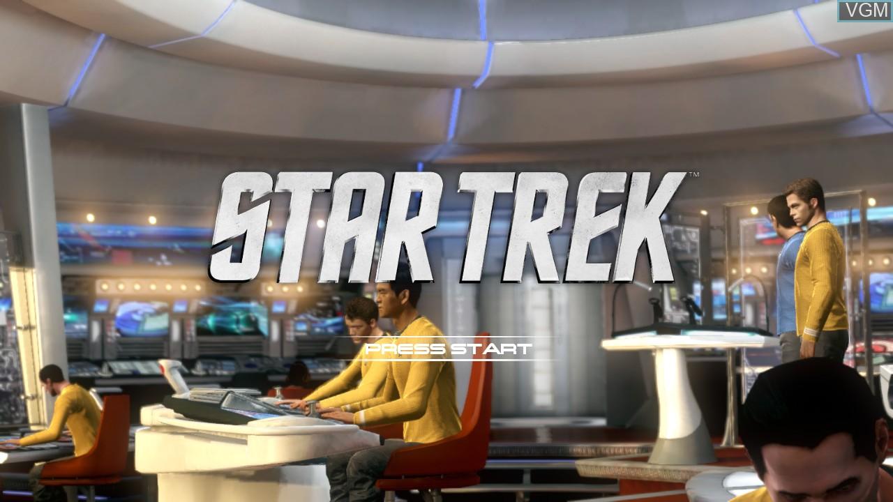 Image de l'ecran titre du jeu Star Trek The Video Game sur Microsoft Xbox 360
