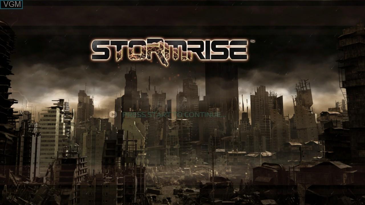 Image de l'ecran titre du jeu Stormrise sur Microsoft Xbox 360