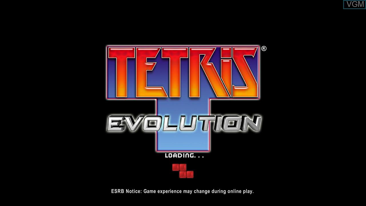 Image de l'ecran titre du jeu Tetris Evolution sur Microsoft Xbox 360