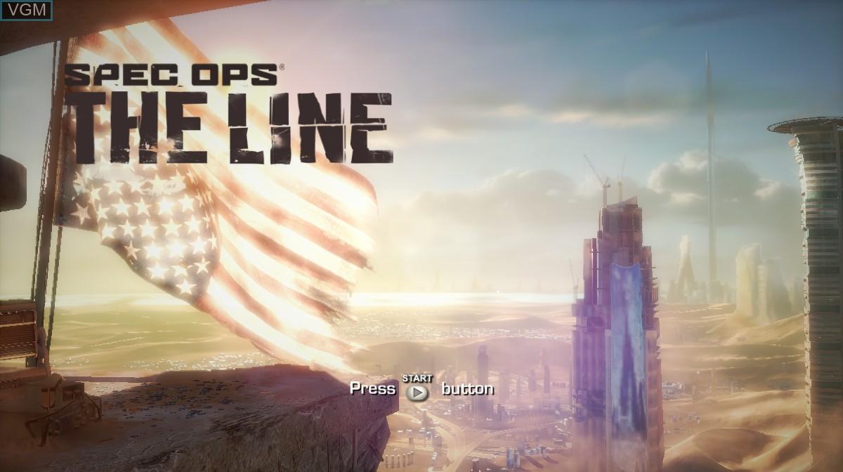 Image de l'ecran titre du jeu Spec Ops - The Line sur Microsoft Xbox 360