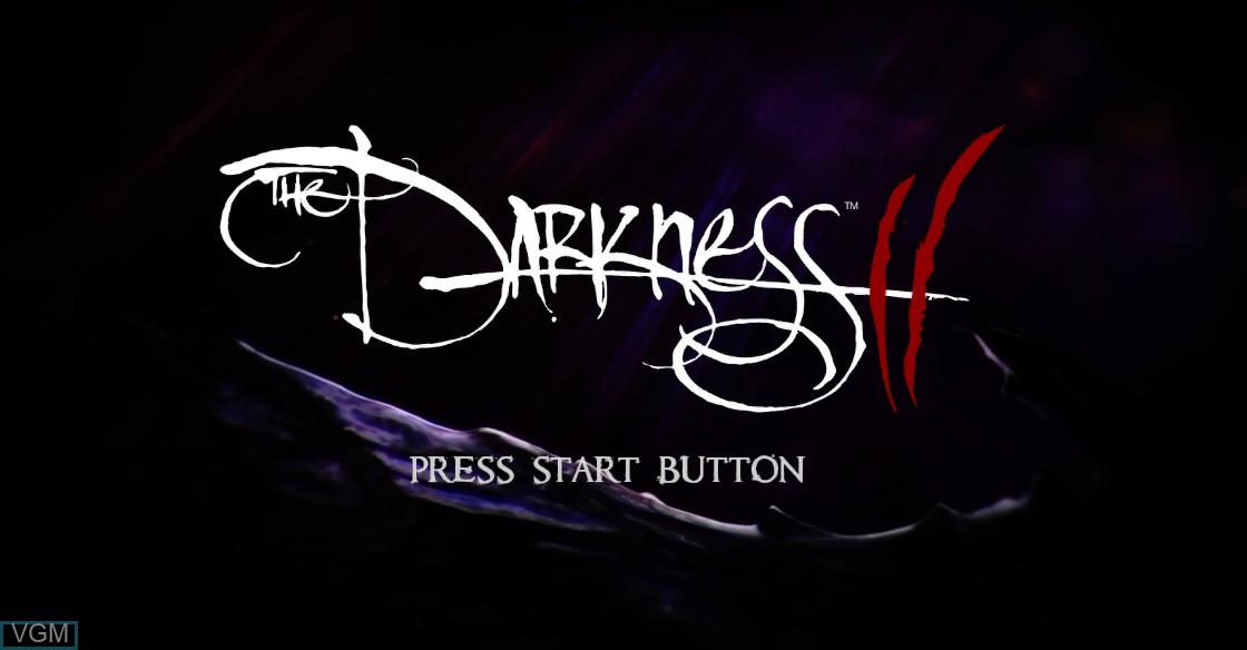 Image de l'ecran titre du jeu Darkness II, The sur Microsoft Xbox 360