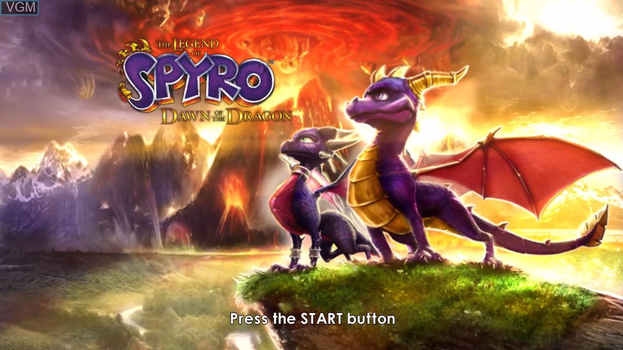 Image de l'ecran titre du jeu Legend of Spyro, The - Dawn of the Dragon sur Microsoft Xbox 360
