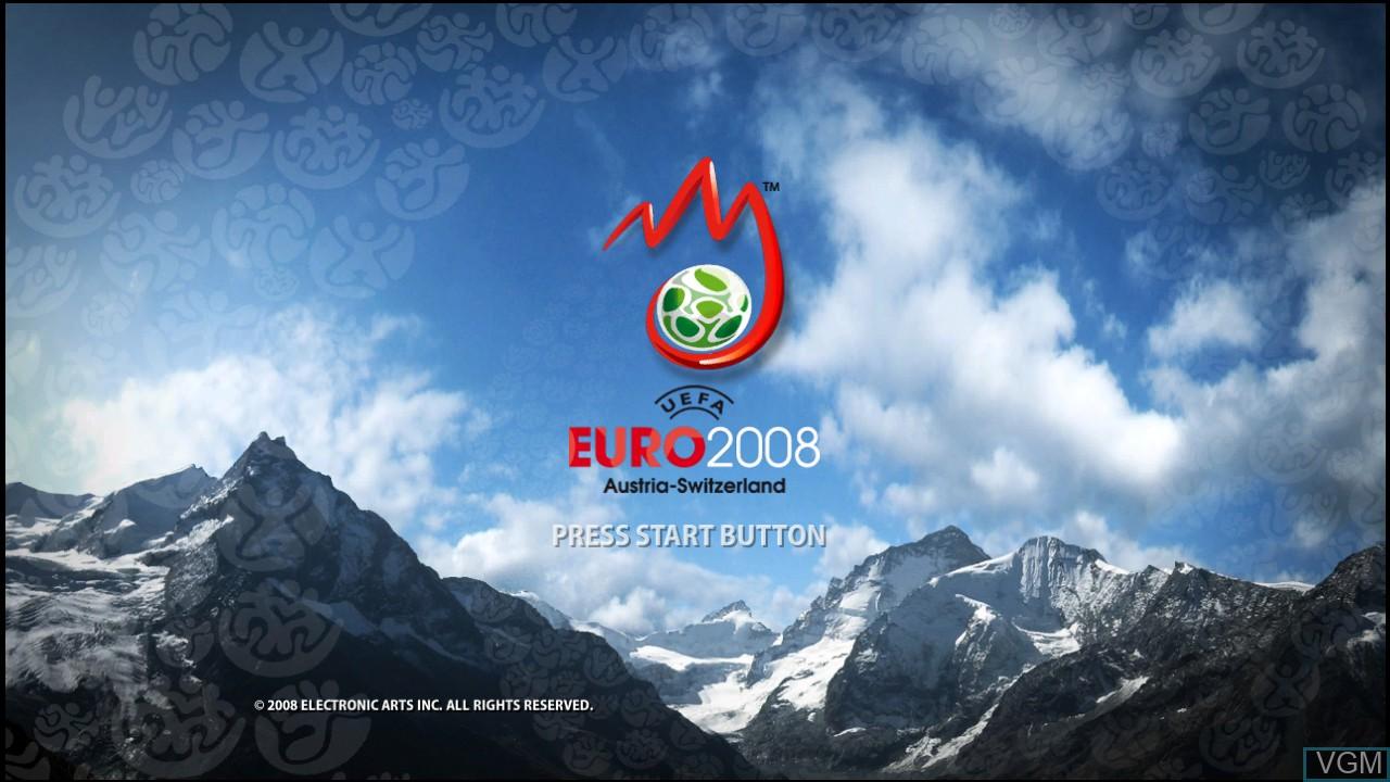 Image de l'ecran titre du jeu UEFA EURO 2008 - Austria-Switzerland sur Microsoft Xbox 360