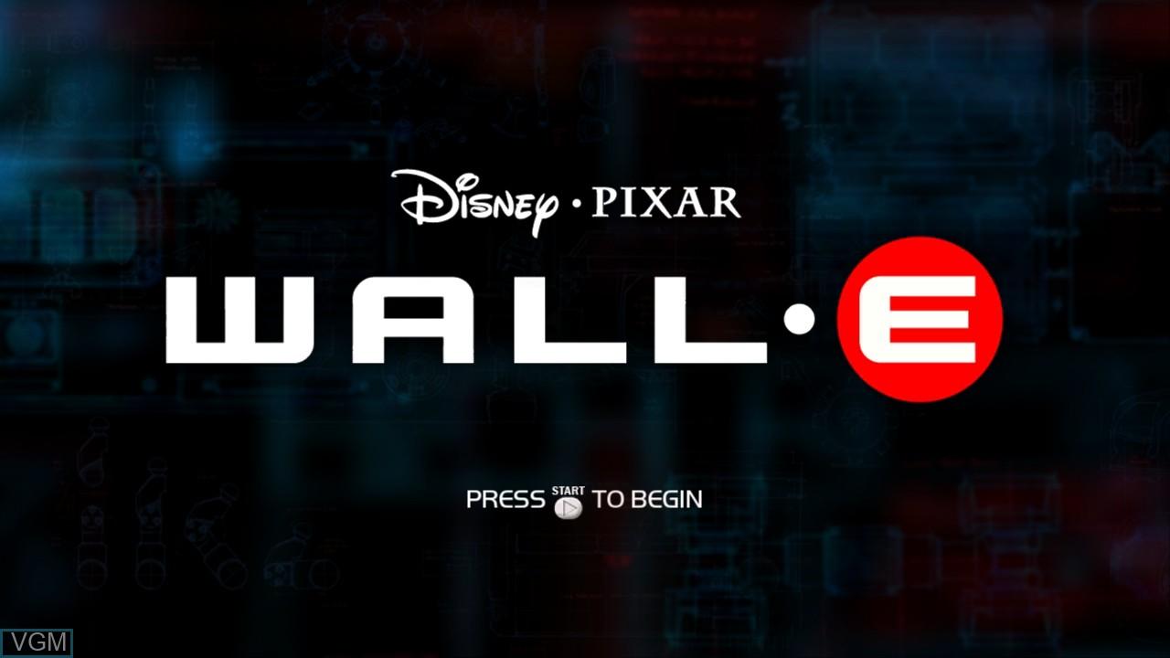 Image de l'ecran titre du jeu WALL-E sur Microsoft Xbox 360
