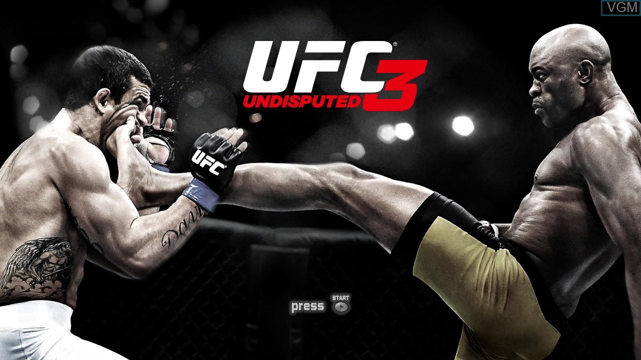 Image de l'ecran titre du jeu UFC Undisputed 3 sur Microsoft Xbox 360