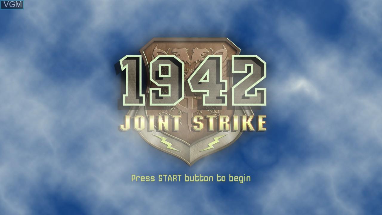 Image de l'ecran titre du jeu 1942 - Joint Strike sur Microsoft Xbox 360