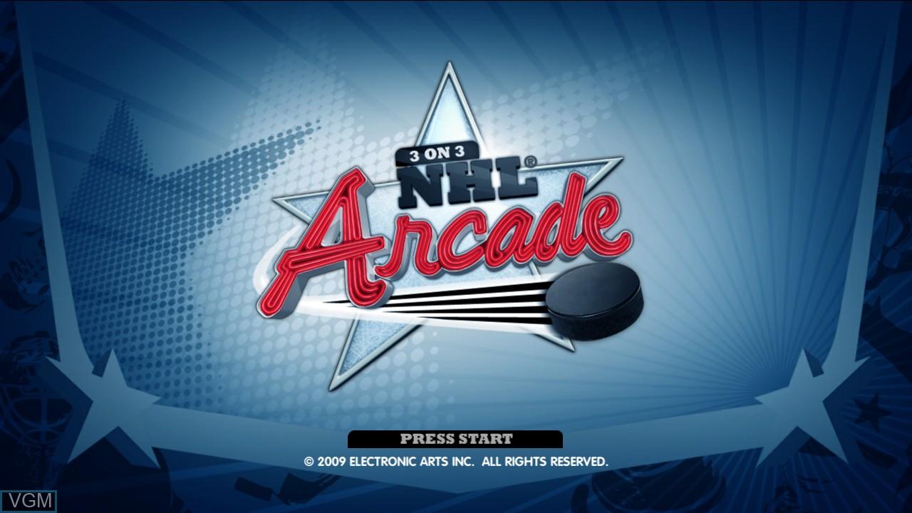 Image de l'ecran titre du jeu 3 on 3 NHL Arcade sur Microsoft Xbox 360